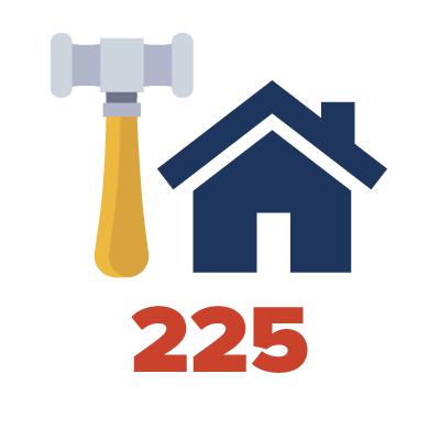 225 Units under construction
